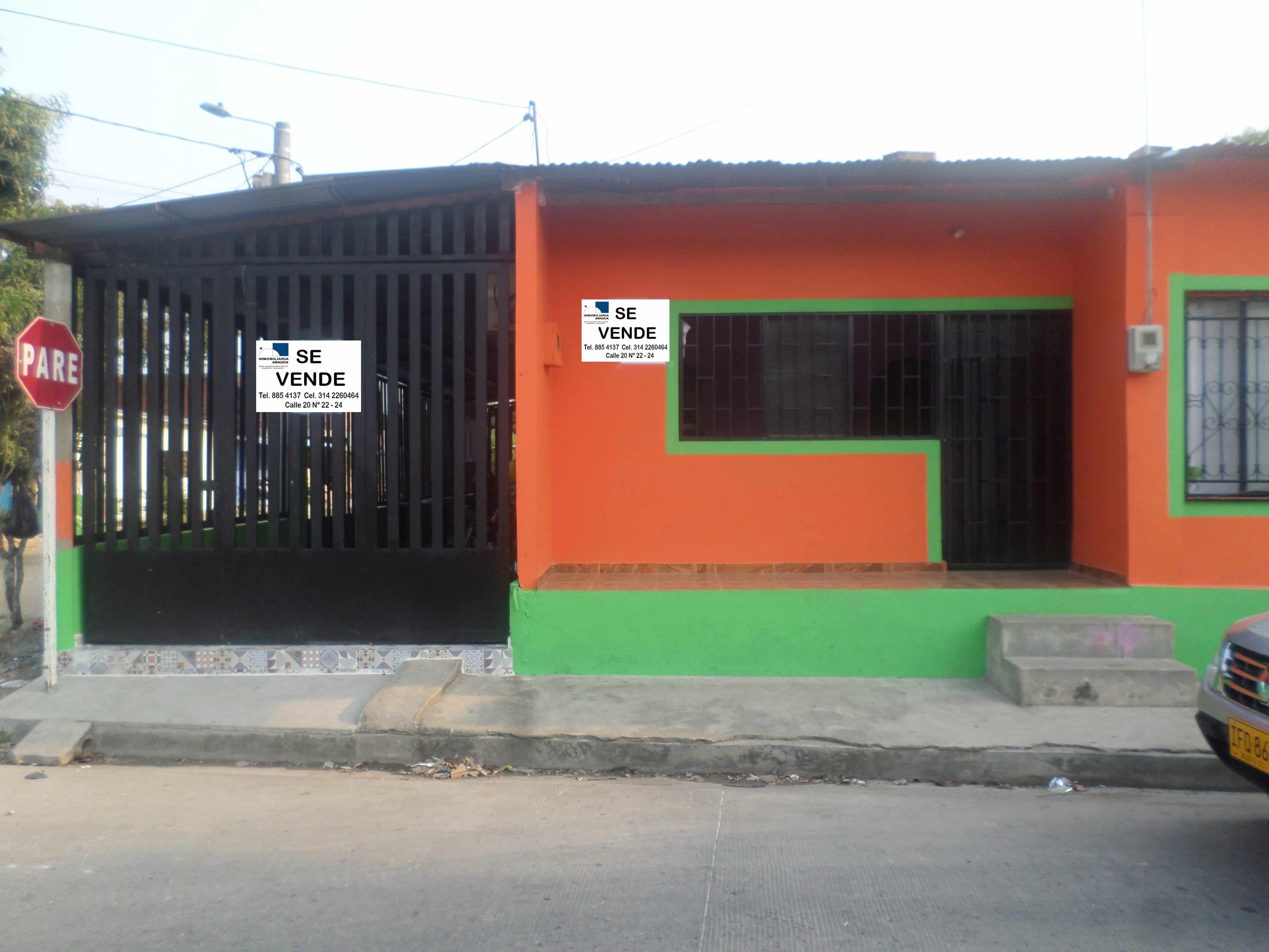 Casa en venta en arauca barrio cristo rey inmobiliaria for Fachadas de casas de barrio